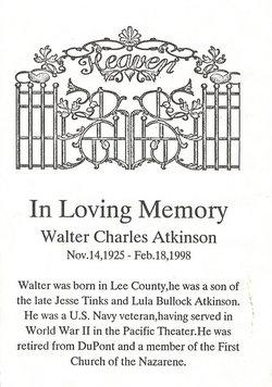 PFC Walter Charles Atkinson