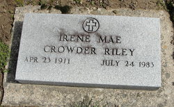 Irene Mae <i>Crowder</i> Riley