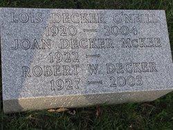 Joan <i>Decker</i> McKee