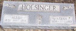 Sarah B <i>Tobias</i> Holsinger
