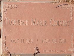 Florence Marie Colvert