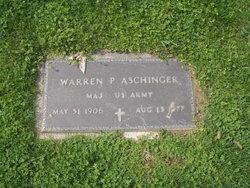 Maj Warren P Aschinger