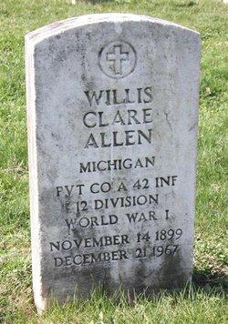 Pvt Willis Clare Allen