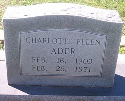 Charlotte Ellen Lottie <i>Ahrens</i> Ader