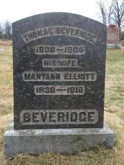 Mary Ann <i>Elliott</i> Beveridge