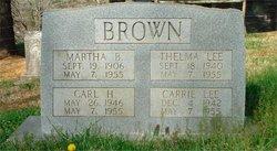 Martha <i>Goforth</i> Brown