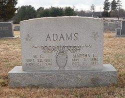 Martha C Adams