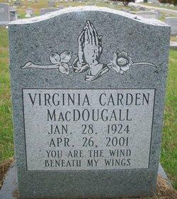 Virginia <i>MacDougall</i> Carden