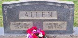 Lavinia <i>Crump</i> Allen