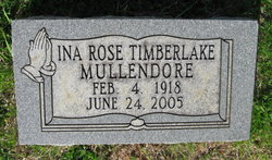 Ina Rose <i>Timberlake</i> Mullendore