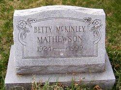 Betty Jean <i>McKinley</i> Mathewson