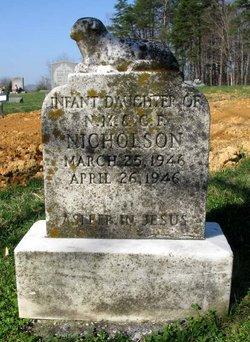 Infant Daughter Nicholson