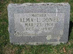 Alma L. <i>Whitlatch</i> Jones