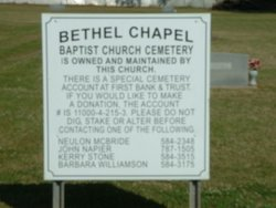 Bethel Chapel Baptist Church Cemetery
