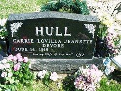 Carrie Lovilla Jeanette <i>DeVore</i> Wymer Hull
