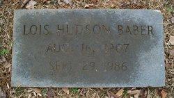 Lois <i>Hudson</i> Baber