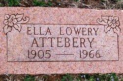 Ella <i>Lowery</i> Attebery