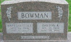 Mary Lou <i>Cole</i> Bowman