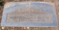 Mary Elizabeth Lizzie <i>Dickson</i> Petras