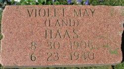 Violet May <i>Land</i> Haas