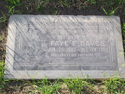 Faye Elizabeth <i>McGilvery</i> Daves