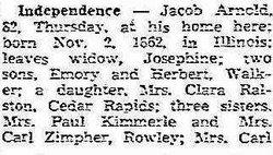 Jacob Arnold, Jr