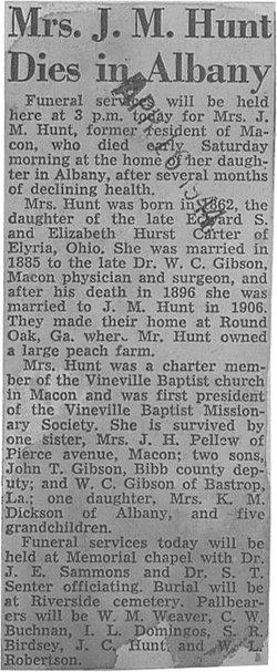 Mrs Louise Lou <i>Carter</i> Hunt