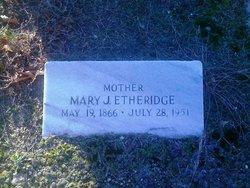 Mary Jane <i>Hudgins</i> Etheridge