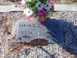 Sarah A. <i>Tuggle</i> Etheridge