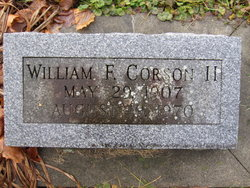 William F Corson, II