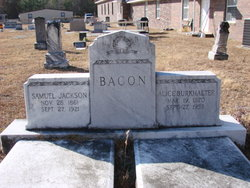 Alice <i>Burkhalter</i> Bacon