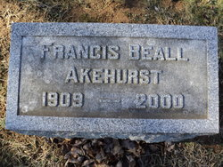 Francis <i>Beall</i> Akehurst