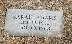 Sarah <i>Tindall</i> Adams