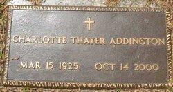 Charlotte <i>Thayer</i> Addington