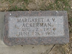 Margaret A.V. Ackerman