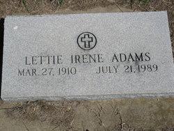 Lettie Irene <i>Oliver</i> Adams