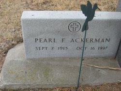 Pearl F. Ackerman