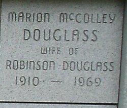 Marion <i>McColley</i> Douglass