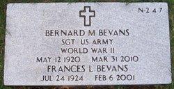 Sgt Bernard M Bevans