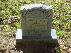 Beulah V. <i>Grice</i> Allen
