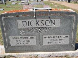 Margaret Ann <i>Latham</i> Dickson