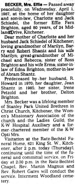 Effie Fern <i>Brighton</i> Becker