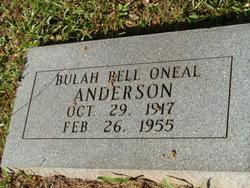 Bulah Bell <i>O'Neal</i> Anderson