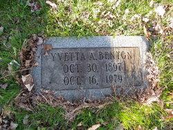 Yvetta Alice <i>Foltz</i> Benton