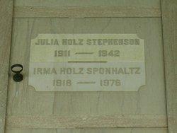 Julia Julie <i>Holz</i> Stephenson