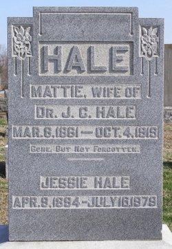 Martha Ann Mattie <i>Martin</i> Hale