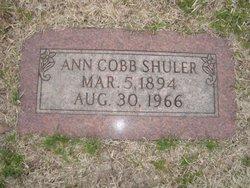 Ann <i>Cobb</i> Shuler