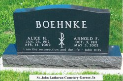 Rev Arnold Fredrick O. Boehnke