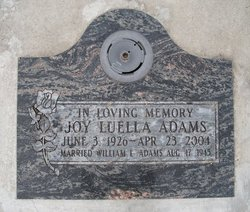 Joy Luella <i>Pendleton</i> Adams