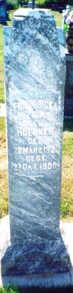 Friedricka <i>Huebner</i> Zick